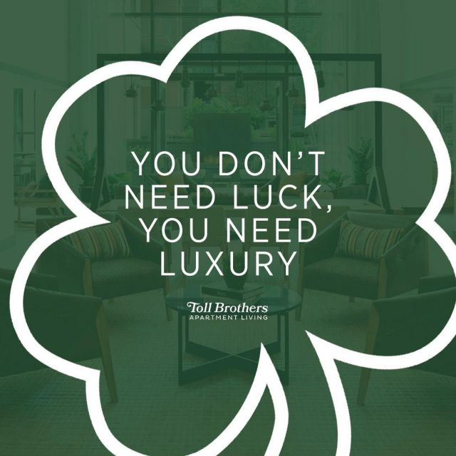 Feeling Lucky? Schedule an appointment to view our stunning units and find out how you can receive up to two months free! Don't forget to wear green! #HappySaintPatrick'sDay #TBAL #ParcRiverside #DCAptLiving